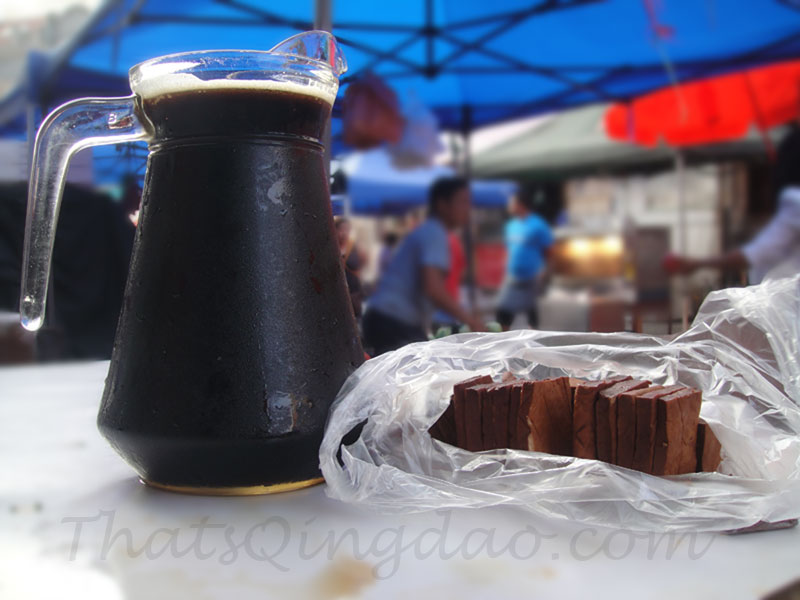 Qingdao Photography: Tsingtao Dark Draft Beer & Tofu
